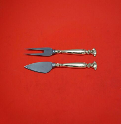 Romance of the Sea by Wallace Sterling Silver Hard Cheese Serving Set Custom