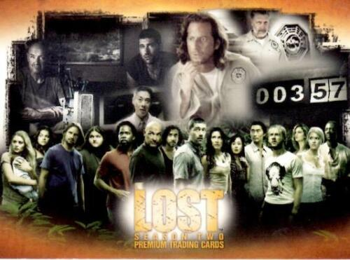 INKWORKS - LOST SEASON 2 TWO TRADING CARD SELL SHEET & PROMO CARD L2-1