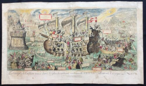 """1762 Typus Religionis""""- Order of Society of Jesus-  Monumental Etching by Moreau"""