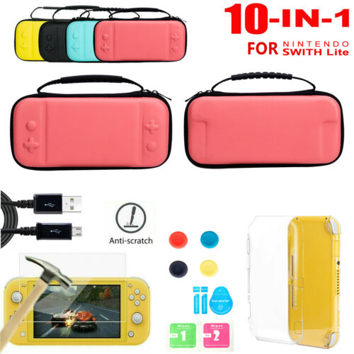 Carrying Bag Case+Charger Cable+Protector Accessories For Nintendo Switch Lite