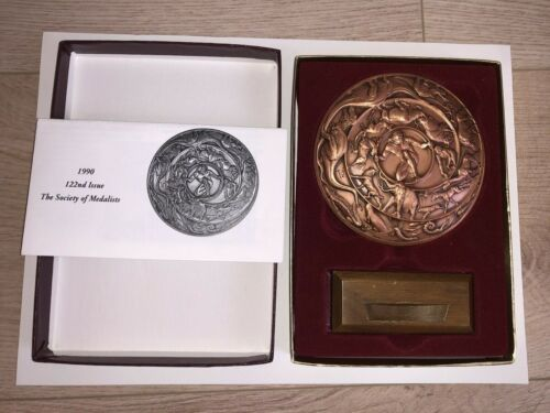 OMédaille 1990 SOCIETY OF MEDALISTS #122 Marcel Jovi CUIVRE Boite + support RARE