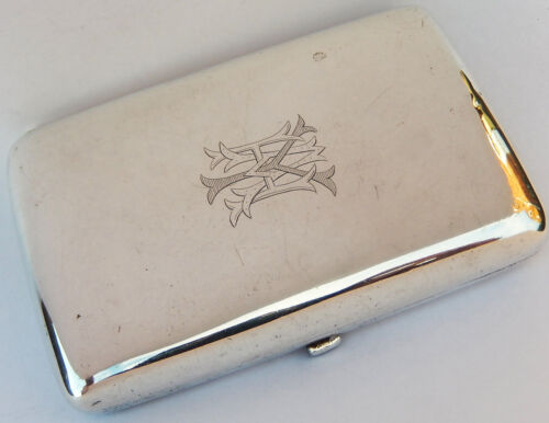 👍 19TH CENTURY CHINESE WANG HING SOLID SILVER CARD CASE BOX WITH HALLMARK