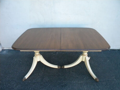Mahogany Painted Two Tones Dining Table by Morganton 3703