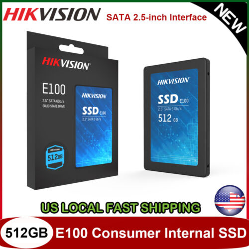 """HIKVISION 512GB Internal SSD 2.5"""" SATA 3D NAND Solid State Drive for Laptop PC"""