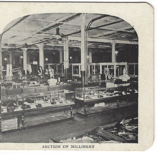 Millinery Department, T. Eaton Co. Store, Toronto, Canada, ca 1905 Stereoview