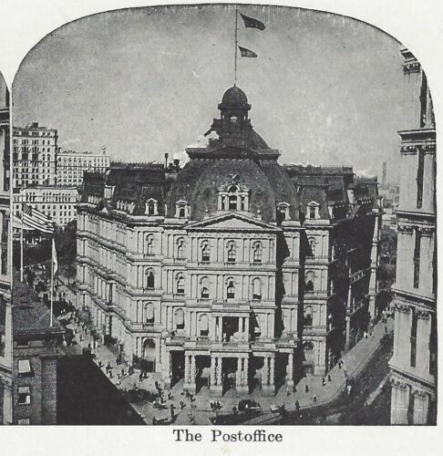 The Post Office, New York City, Circa 1910's Stereoview/Sterograph Card