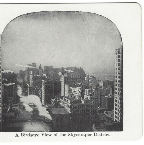 View of Skyscraper District, New York City, ca 1910 Stereoview/Stereograph
