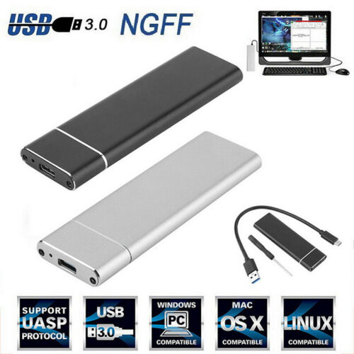 M.2 NGFF SSD Hd Disk Drive Case USB  USB 3.0 NVME PCIE HDD Enclosur E  FT