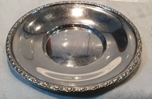 """Frank Whiting & Co Sterling Silver Dessert Plate Art Deco #736 """"Talisman Rose"""""""