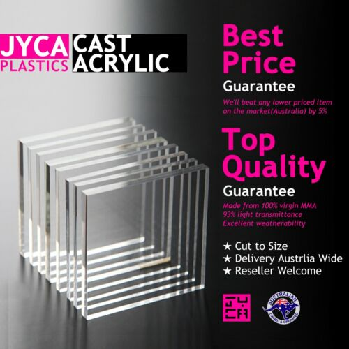 CLEAR Acrylic Perspex Sheet【1-10mm thick】【Up to 20% OFF】【BEST Price】FREE POST <br/> Massive size / colour options - Cut to size - UV stable