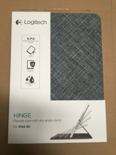 Logitech Hinge Flexible Case with Any-Angle Stand for iPad Air-Gray