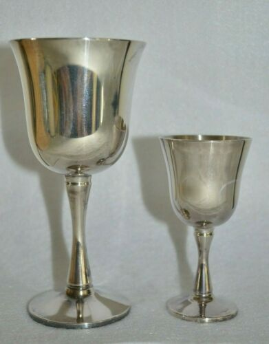 """9x SALEM Silver Plated Goblet Cup Mixed Lot 5.5"""" & 3.75"""" Sizes NEW OLD STOCK"""
