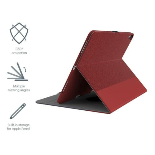 NEW Cygnett TekView with Apple pencil holder for iPad Pro 12.9 Red/Red (2019)