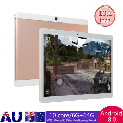 "10.1"" 10 Core Android 9.0 Tablet 4+64GB Bluetooth WiFi GPS Tablet Dual SIM Gifts"