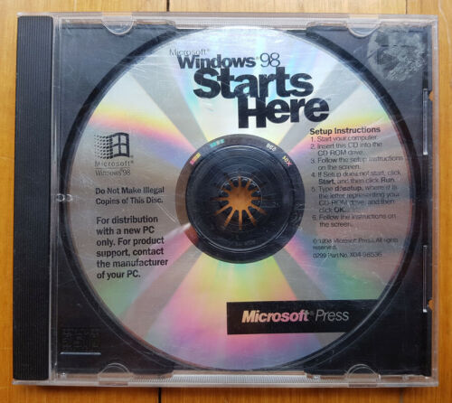 Microsoft Windows 98 Starts Here - Disc Only