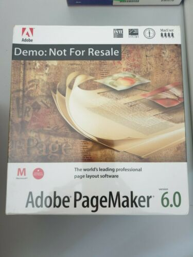 Adobe PageMaker Software ***Vintage Collectable***As New SEALED***