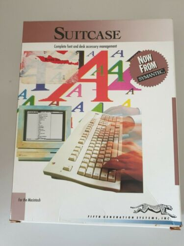 Suitcase Font and Desk Accessory Software ***Vintage Collectable***