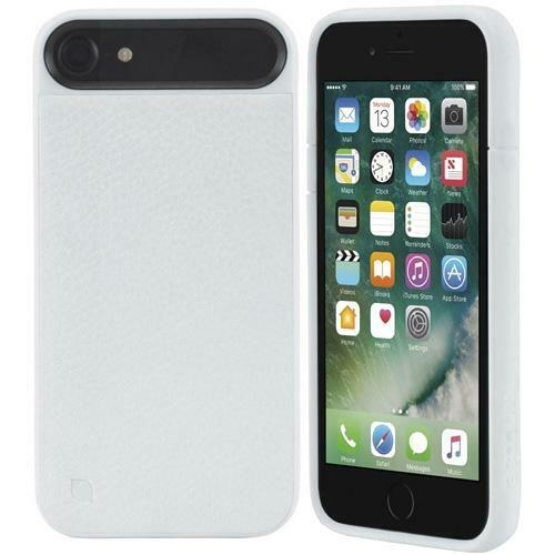 Incase iPhone 8 Plus & 7 plus ICON 2 Pebbled Leather Rugged Case Cover - White