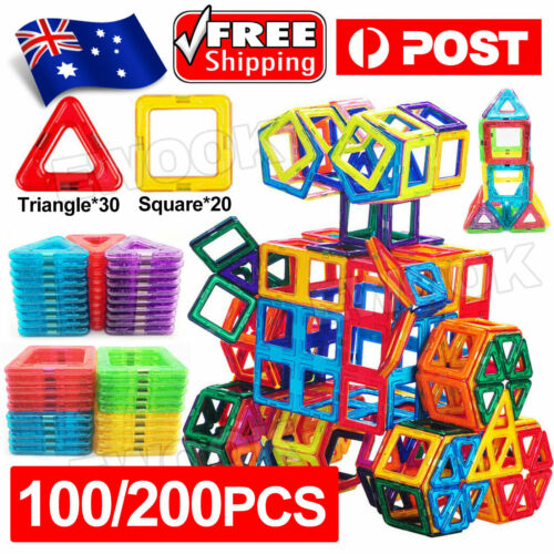 50/100pcs Magnetic Building Blocks Toy Set 3D Tiles DIY Toys Gift for Kids
