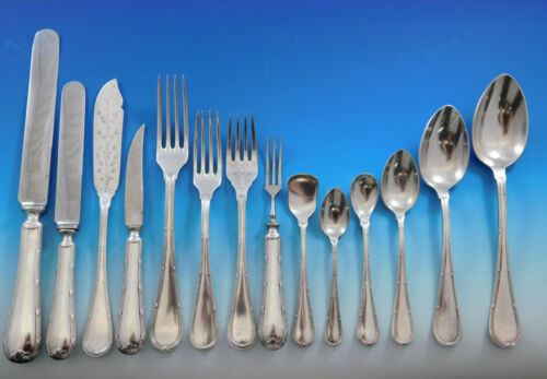 Bougainville by Hacker & Hermann Austria Silverplate Flatware Set Service 175 pc