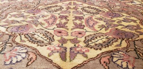Magnificent Antique Wool Pile Muted Natural Color Armenian Area Rug 7x10ft
