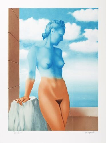 Rene Magritte - Black Magic (signed & numbered lithograph)