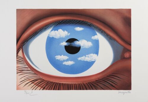 Rene Magritte - The False Mirror (lithograph, plate-signed & numbered)