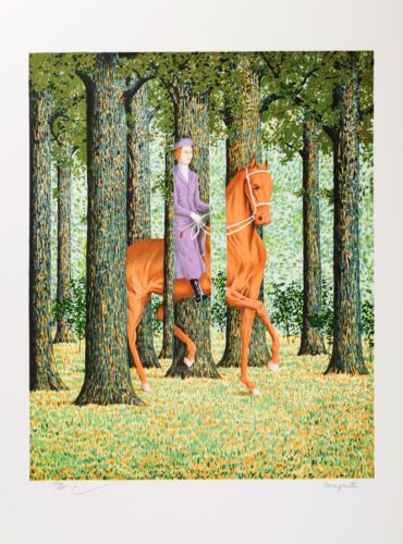 Rene Magritte - The Blank Signature (signed & numbered lithograph)