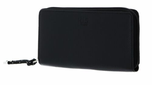 H.I.S borsa Zip Around Wallet Black