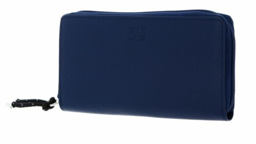 H.I.S borsa Zip Around Wallet Blue