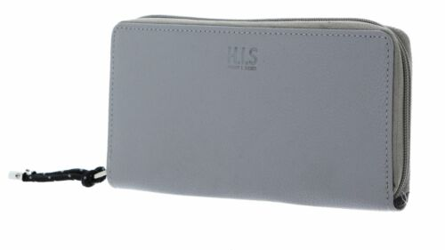 H.I.S borsa Zip Around Wallet Grey