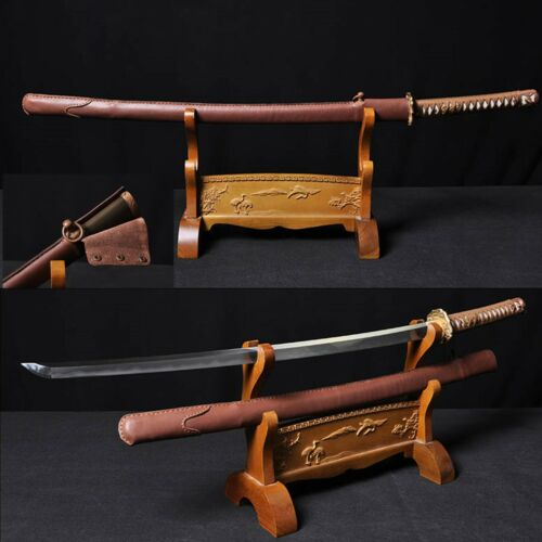 Top quality Japanese 98 Saber Traditional Clay Tempered Folded Stee Katana Sword