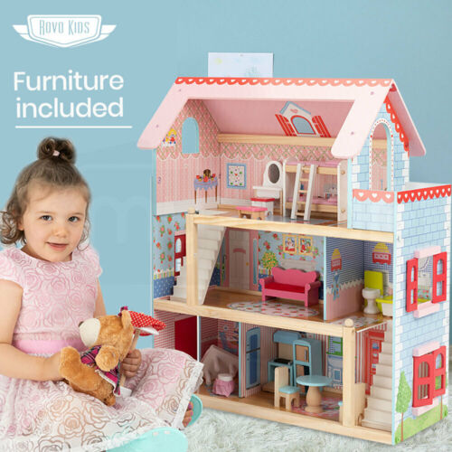 【EXTRA10%OFF】ROVO KIDS Dollhouse Dream Dolls Doll House Wooden Furniture <br/> 10% OFF. Use code MYTTAKE10. Ends 01/11. $150 Max disc.