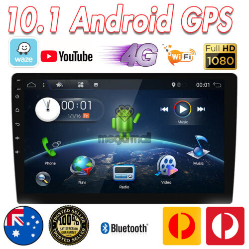 10 Inch IPS Android Double 2DIN Car Stereo GPS NAVI Head Unit FM/AM 4G WiFi OBD