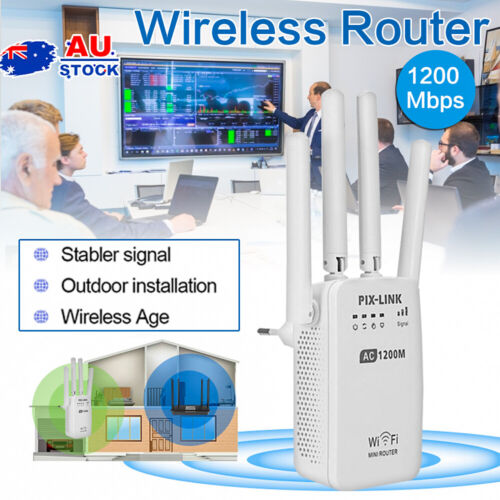 1200Mbps Wireless WiFi Repeater Router Range Extender Signal Booster AU Plug