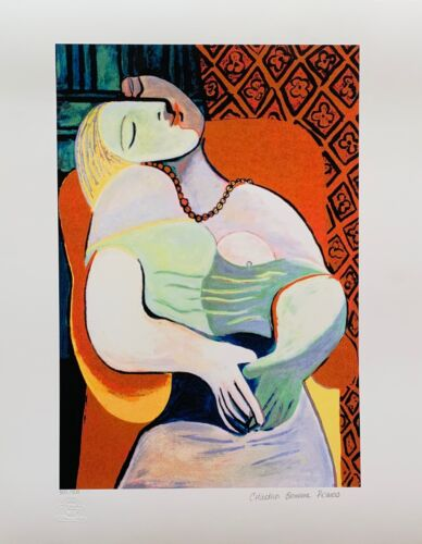 """Pablo Picasso THE DREAM Estate Signed Stamped & Numbered Giclee 20"""" x 26"""" Art"""