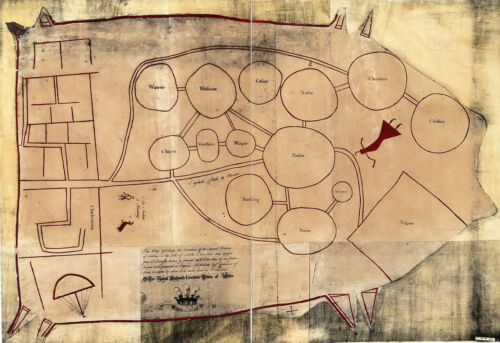 """The Catawba Deerskin Map 1721 Native Americans Indians History 11""""x16"""" Poster"""