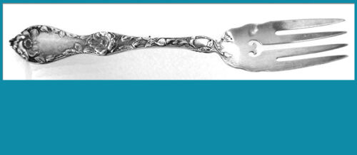 """6"""" sterling FISH FORK  LES CINQ FLEURS pattern 1900y  REED & BARTON (5available)"""