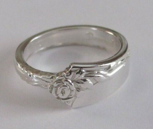Sterling Silver Spoon Ring - Oneida / Damask Rose - size 7 1/2 - 1946