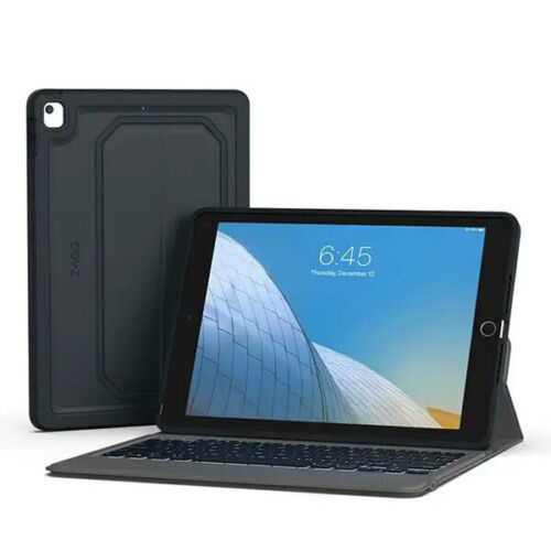"""ZAGG Rugged Messenger Case Cover w/ Built-In Keyboard for Apple iPad 10.2"""" Grey"""
