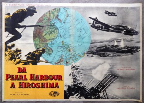 RARE Movie Poster WW2 Pearl Harbour Hiroshima CHINA JAPAN PHILIPPINES Far East
