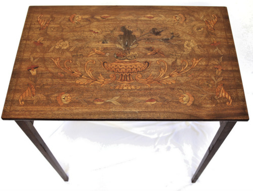 19th Century Inlay Walnut Marquetry Writing Table - Project!
