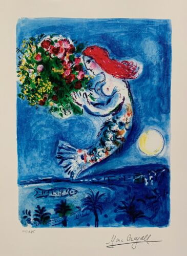Marc Chagall BAY OF ANGELS Limited Edition Facsimile Signed Giclee Art