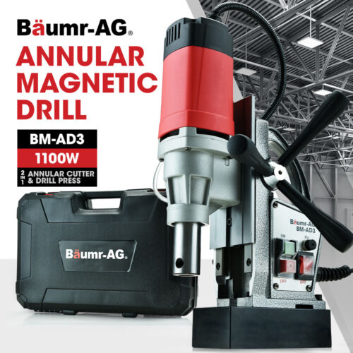 Baumr-AG Annular Cutter Magnetic Core Hole Drill Press Machine Metal Drilling <br/> 2in1 Function | Automatic Lubrication | 11500N Adhesion