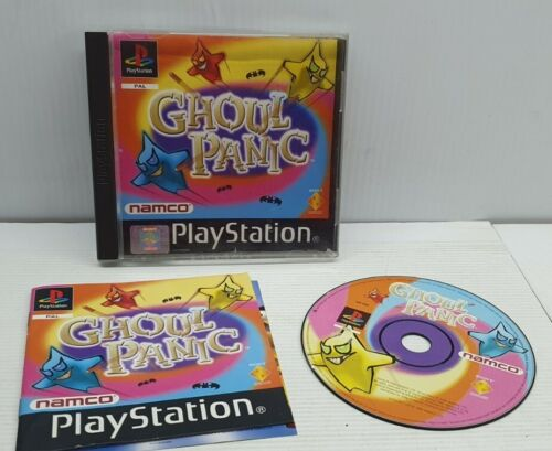 Ps1 PlayStation 1 Ghoul Panic game manual complete Namco Sony