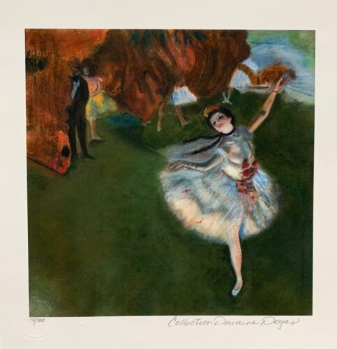"""EDGAR DEGAS """"STAR DANCER"""" Estate Signed & Stamped Limited Edition Small Giclee"""