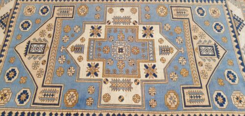 Rare Antique Cr1920-1939's Muted Natural Dye Wool Pile Armenian Oushak Rug 6x9ft