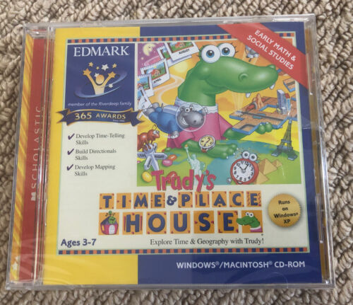 Scholastic Explore Time & Geography CD-ROM Education Software Windows MAC 3-7yr