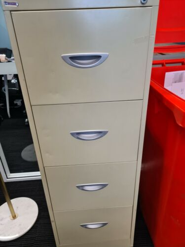 Beige 4 Drawer Filing Cabinet no Key <br/> Located in Sydney CBD