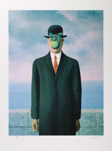 Rene Magritte - Son of Man (signed & numbered lithograph)